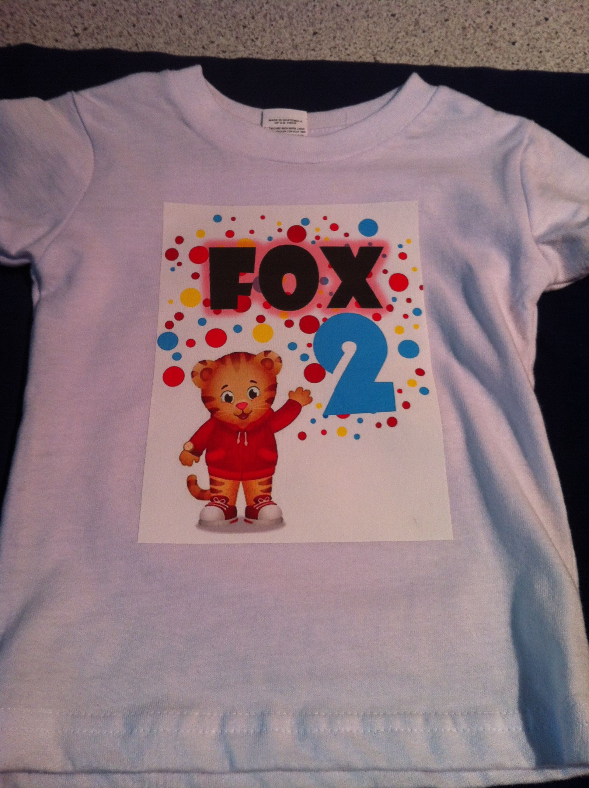 Daniel Tiger home made birthday t-shirt