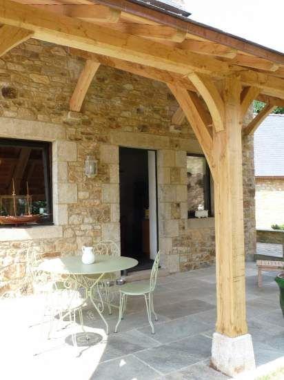 3 of 3 Abri en chêne du0027une terrasse Structuré Bois Grange - monter un garage en bois
