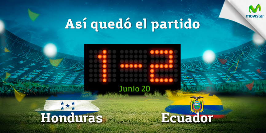 Resultado Honduras vs Ecuador