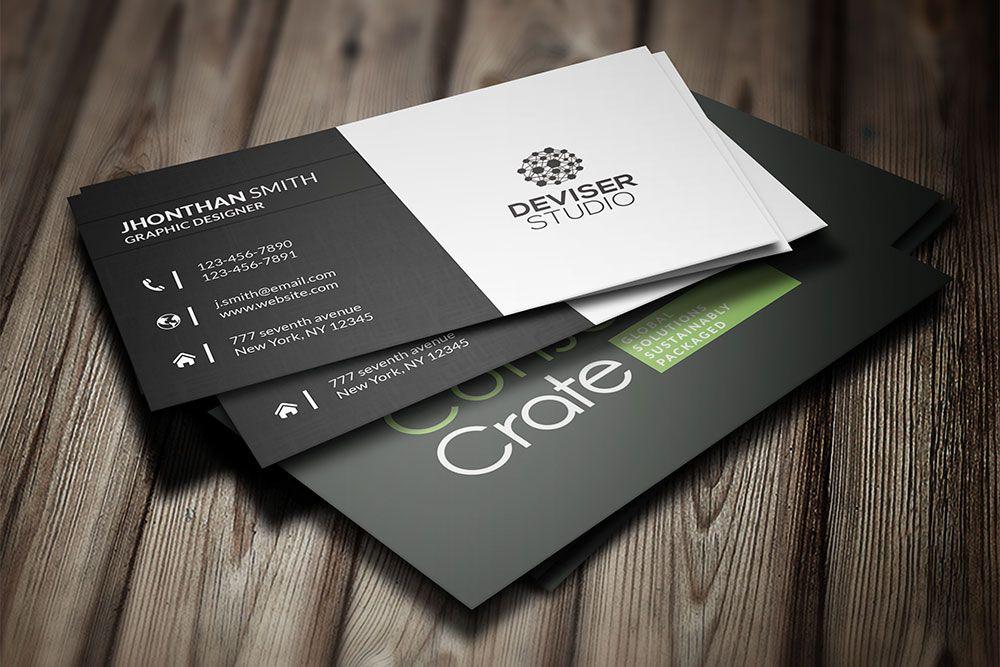 Corporate business card mockup corporate businesscard