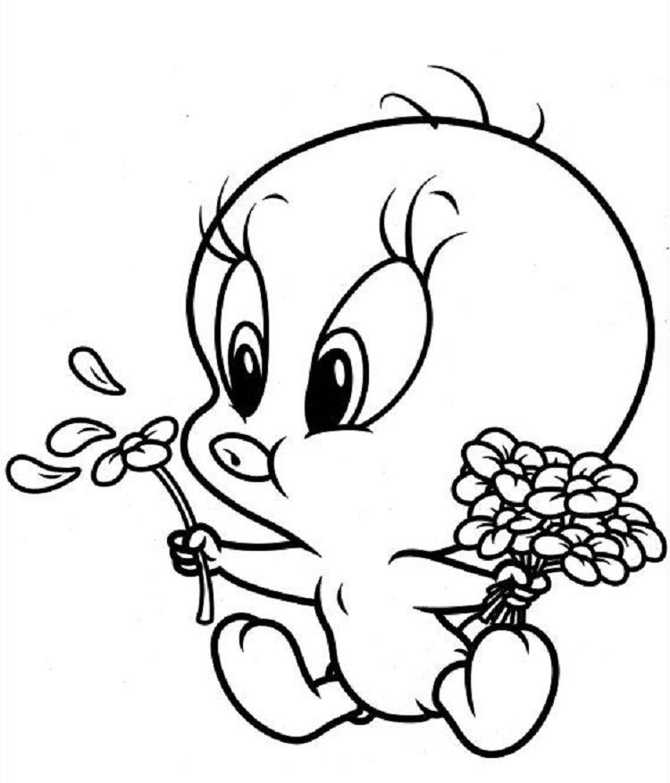 Baby Tweety Coloring Pages Animal Coloring Pages Baby Looney Tunes Bunny Coloring Pages