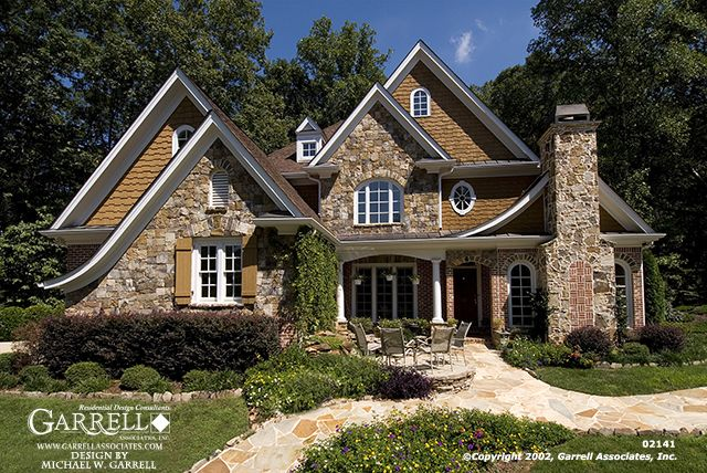 Garrell associates inc lynford house plan 02141 front for English cottage style home plans