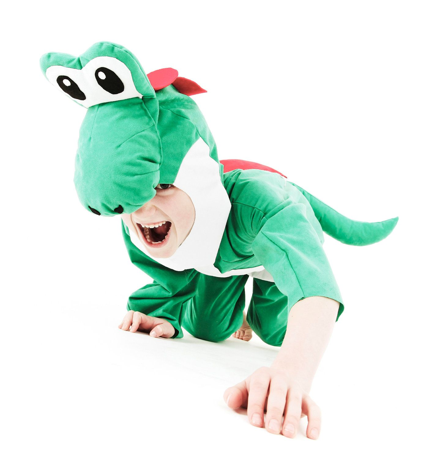 Super Mario Yoshi Costume for a child by SewCoolCreation on Etsy ...