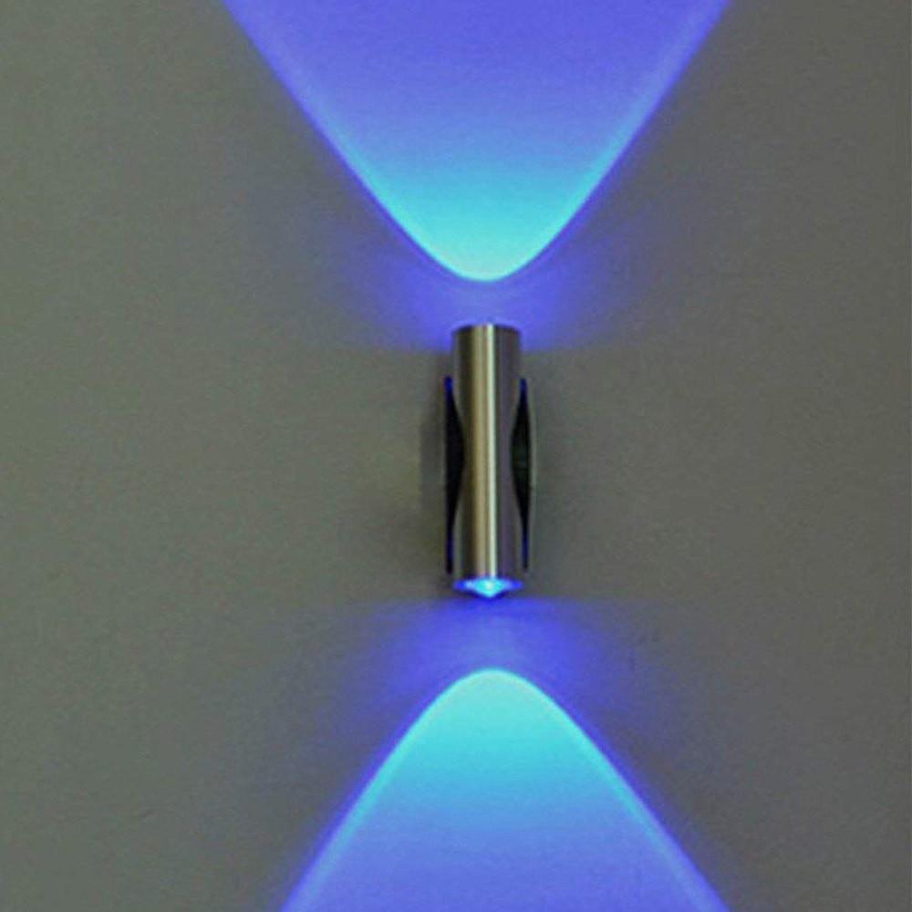 Double headed Blue LED Light Bedroom Wall Decor | Led wall ...