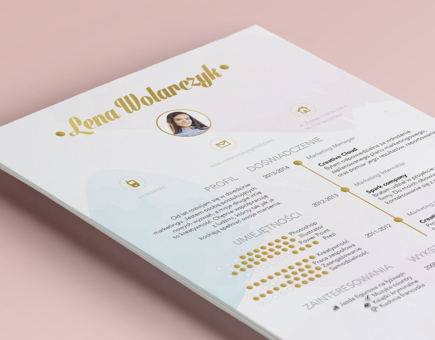 beautiful pastel resume for creative job  we u0026 39 ll love it