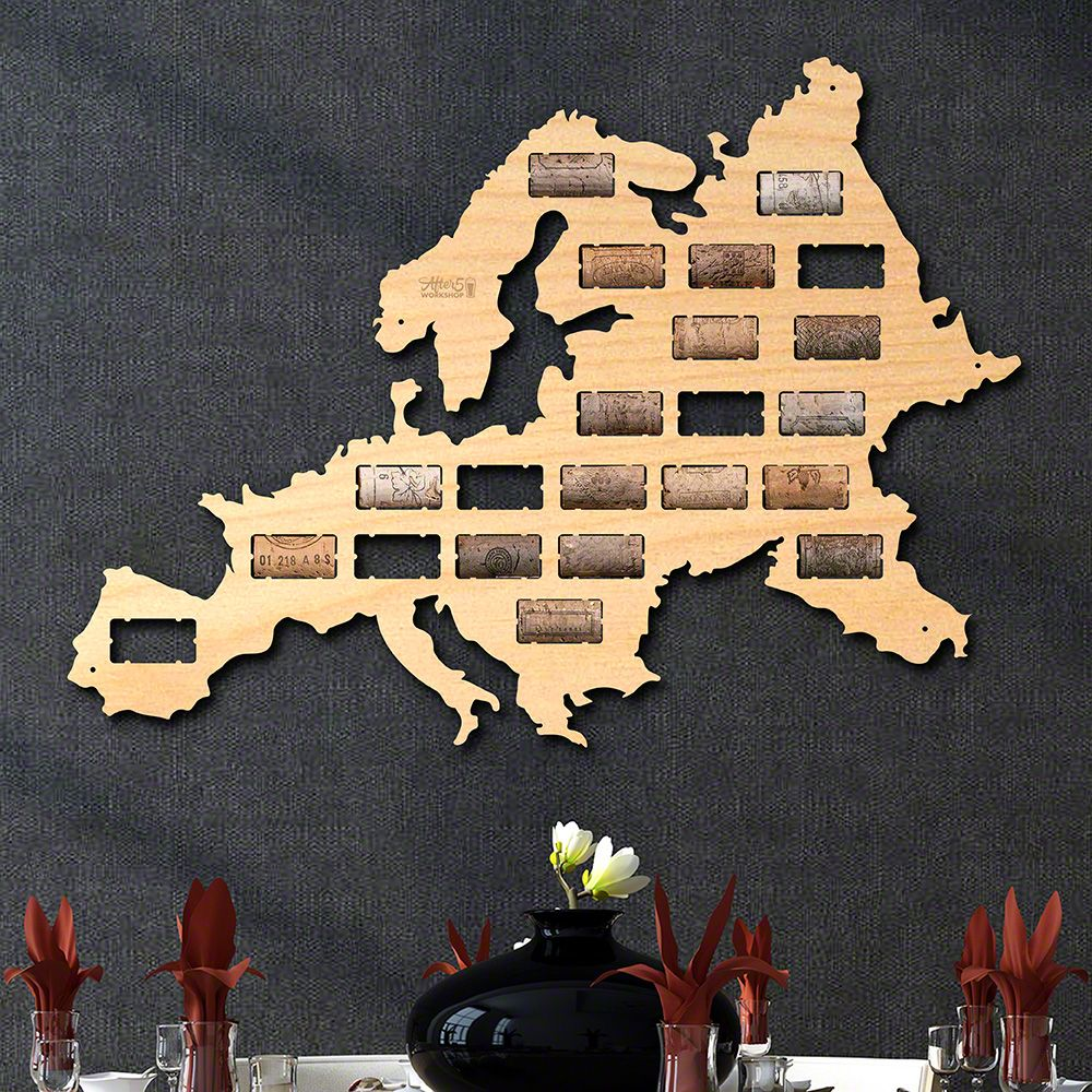 Map Of Wurope%0A Europe Wine Cork Map