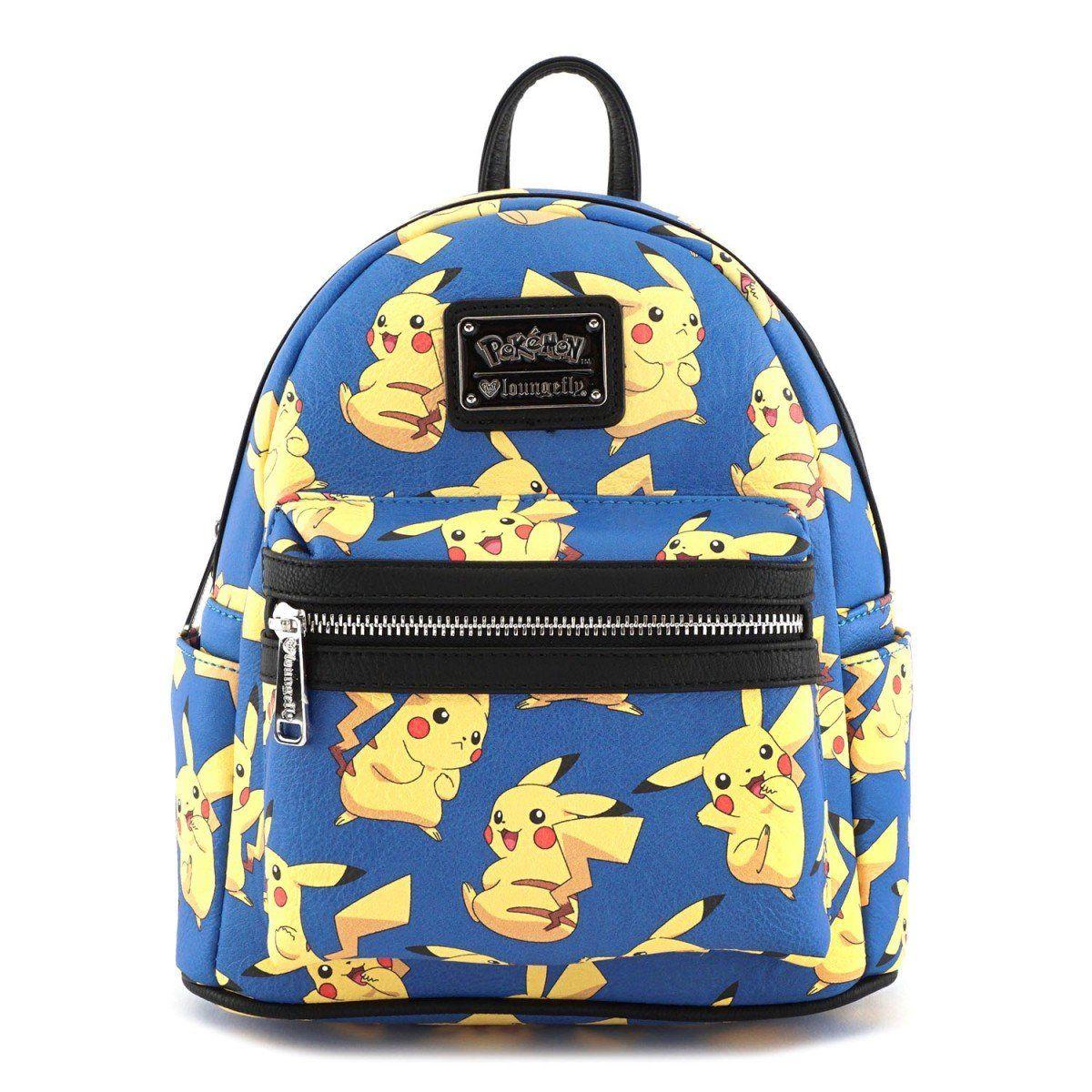 Pokemon Pikachu Backpack Anime Loungefly Mini Backpack Faux