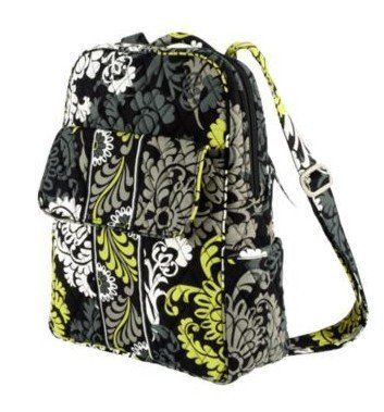 Vera Bradley Backpack in Baroque by Vera Bradley. $56.99. Perfect for the preschooler with less to carry, or as an everyday purse, the Backpack is the petite version of a classic travel piece. An enlarged back zip pocket and a front flap pocket with a concealed magnetic closure make this piece useful as well as adorable.