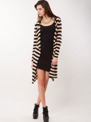 OASIS Stripe Drape Cardigan purchase from koovs | cardigan for ...