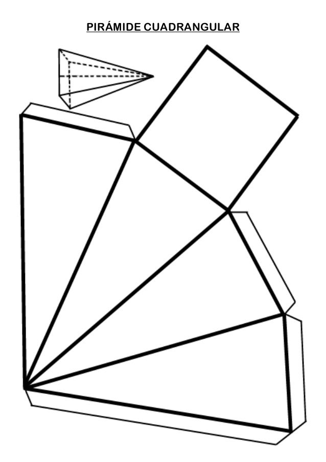 Piramide Cuadrangular Geometric Origami Math Geometric Shapes Origami Paper Art