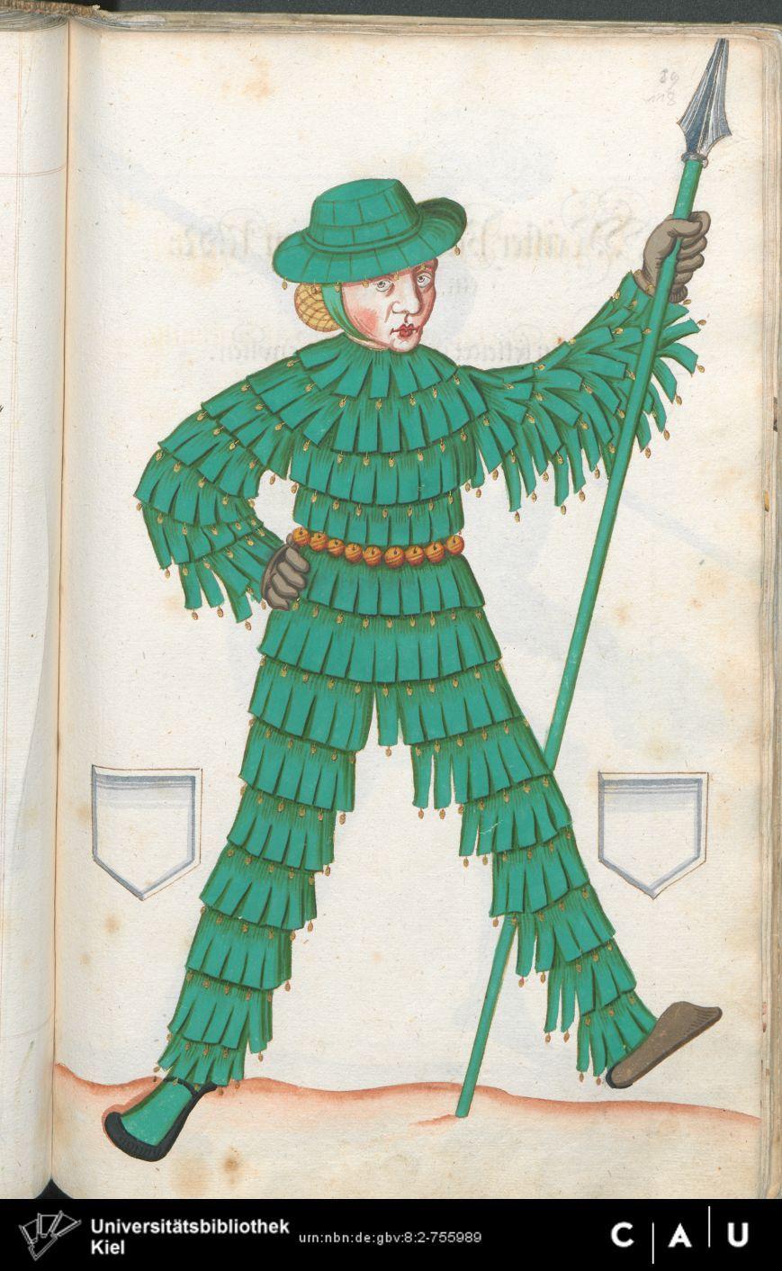 Nürnberger Schembart-Buch Erscheinungsjahr: 16XX  Cod. ms. KB 395  Folio 235