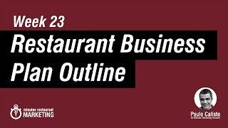 Restaurant Business Plan  Pdf Checklist To Download   Marketing