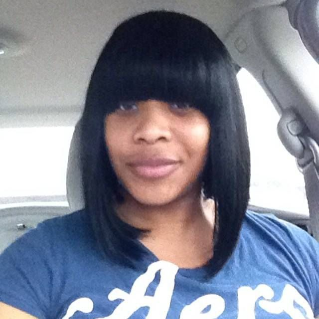 My Bob With The Long Sides And Chinese Bangs Wigs Pinterest