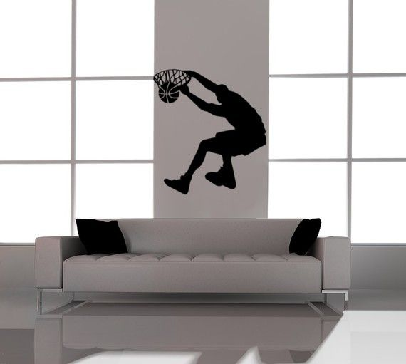 basketball decal kids vinyl wall art basketball player sports decals