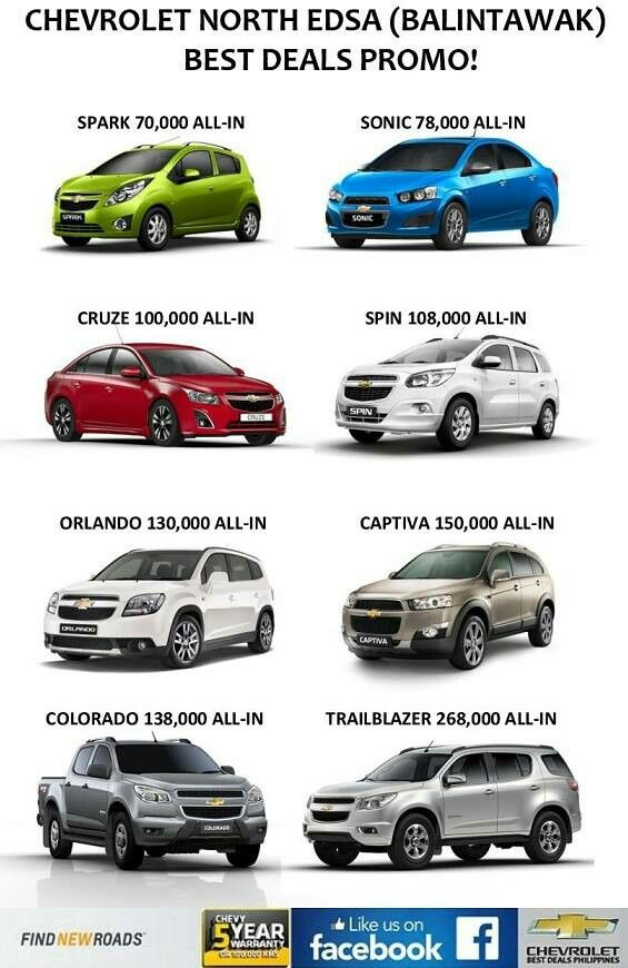 Chevrolet Philippines Promo Get The Best And Lowest Price Here At