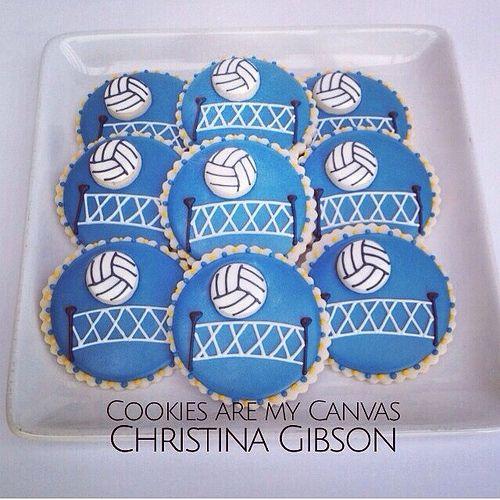 Volleyball Cookies Volleyball Cookies Volleyball Cakes Volleyball Birthday Cakes