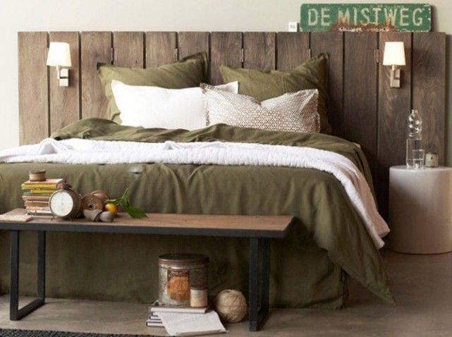 le dessus de lit blanc donne un effet cocooning accompagn de la t te de lit en manguier massif. Black Bedroom Furniture Sets. Home Design Ideas