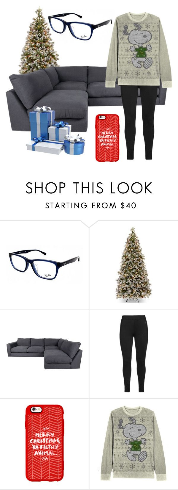 """""""Your First Christmas With Your Husband"""" by wolfie-girl1999 on Polyvore featuring Ray-Ban, Studio, Casetify, Leggings and WardrobeStaples"""
