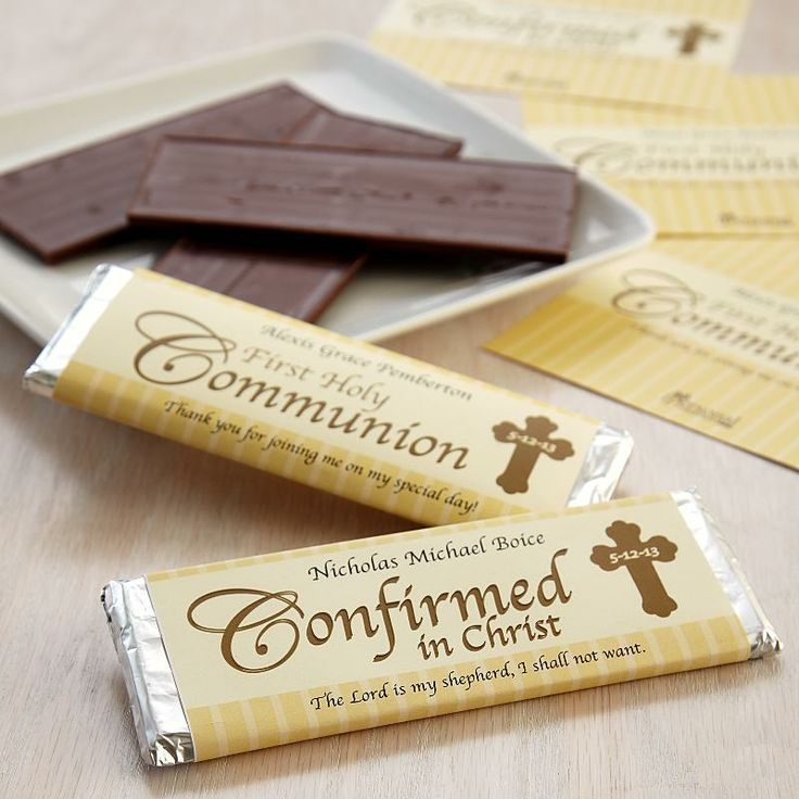 Communionconfirmation candy bar wrappers with images