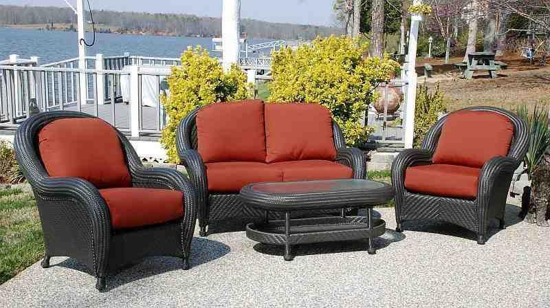 Cayman Weatherproof Resin Wicker Patio Furniture Set Wicker