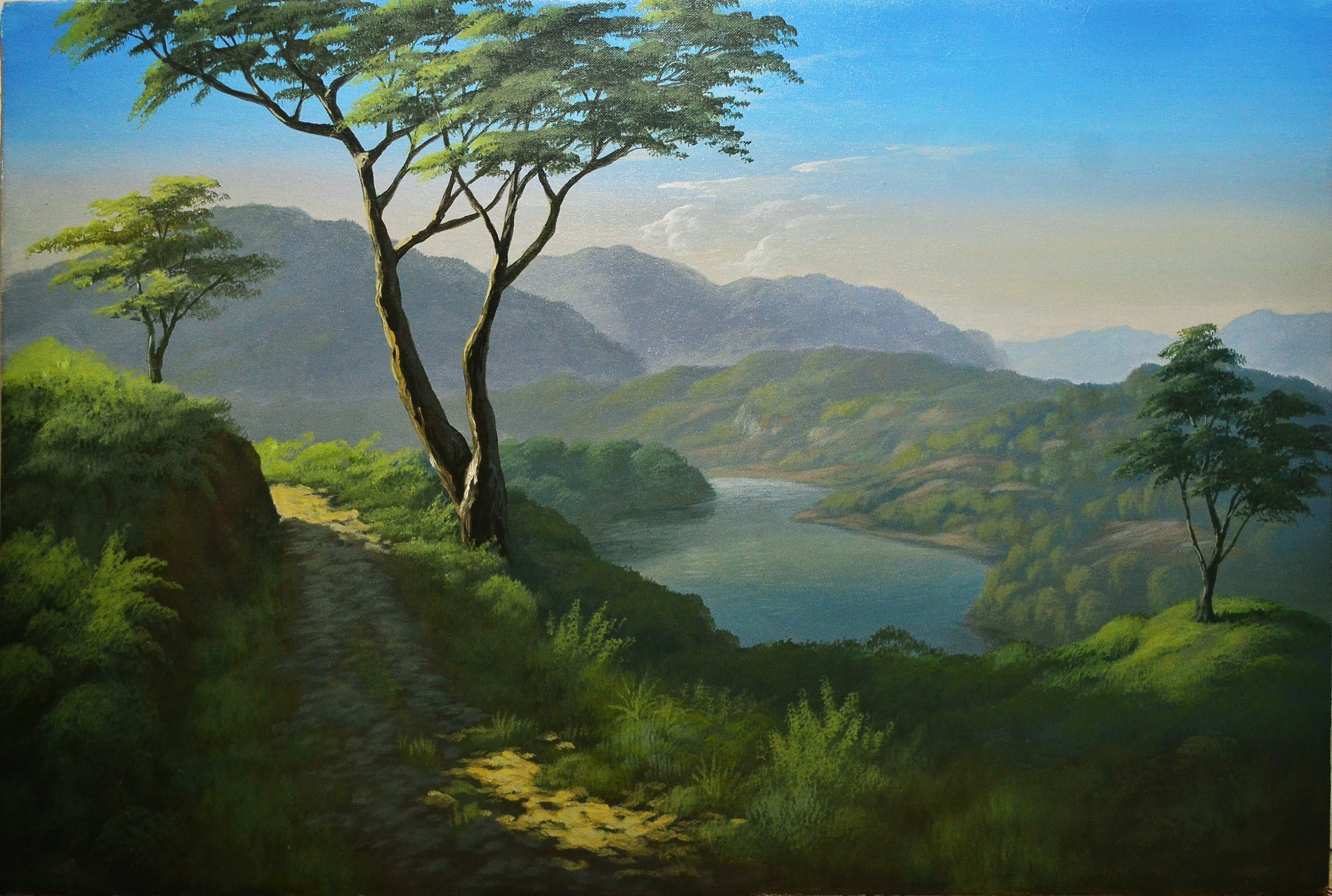Watch Step Instructional Landscape Painting With