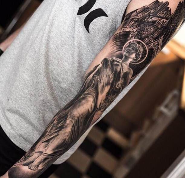 mona lisa tattoo motive arm arm tattoos pinterest. Black Bedroom Furniture Sets. Home Design Ideas