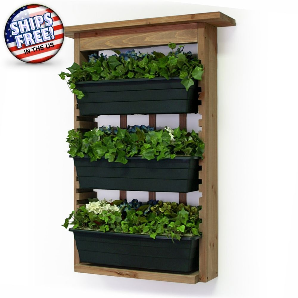 Wood Planter Stand Wall Fence Window Display Hang Garden Flower Herb Box  Outdoor