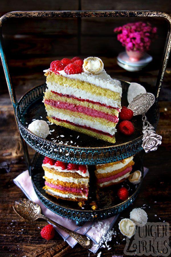 Himbeer-Kokos-Torte mit Mascarpone-Chantilly - Zun