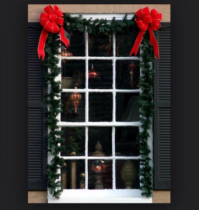 Decoración Ventanas Navidad Pinterest Ventana, Navidad y