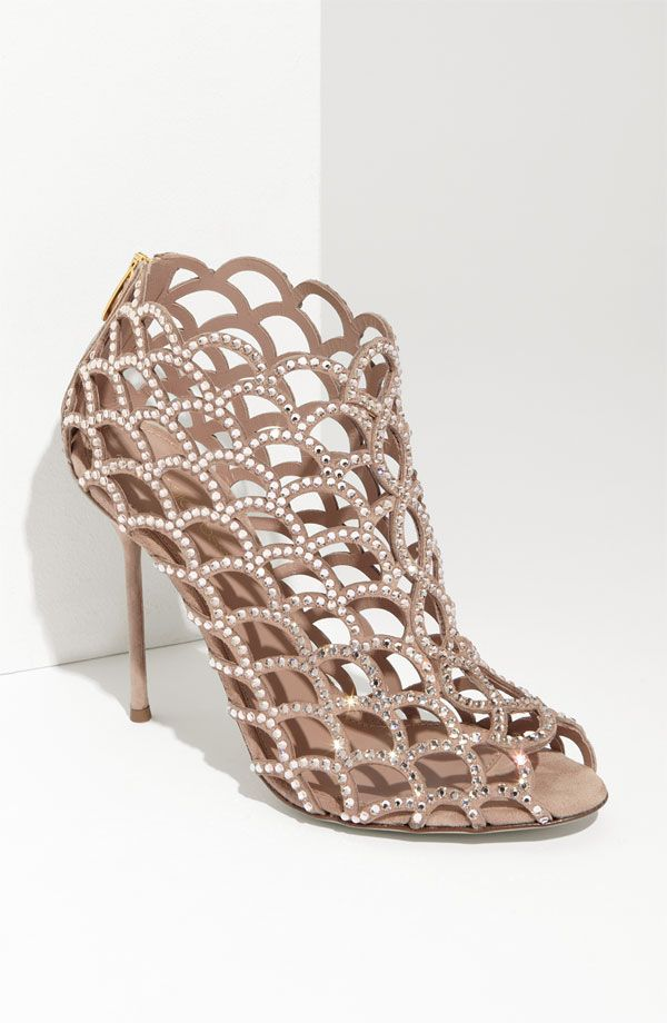 non-traditional wedding shoe  Sergio Rossi 'Mermaid' Caged Sandal  <3PenyaDS