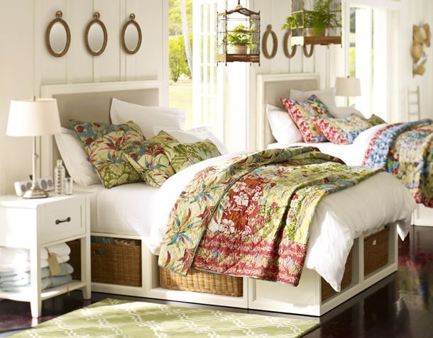 Best Love Pottery Barn Stratton Bed With Baskets Bedside 400 x 300