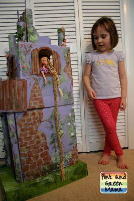 * Cardboard Rapunzel Castle: Homemade