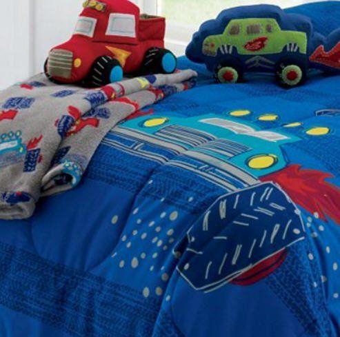 Monster Trucks Boys Twin Comforter Set, Twin Monster Bedding