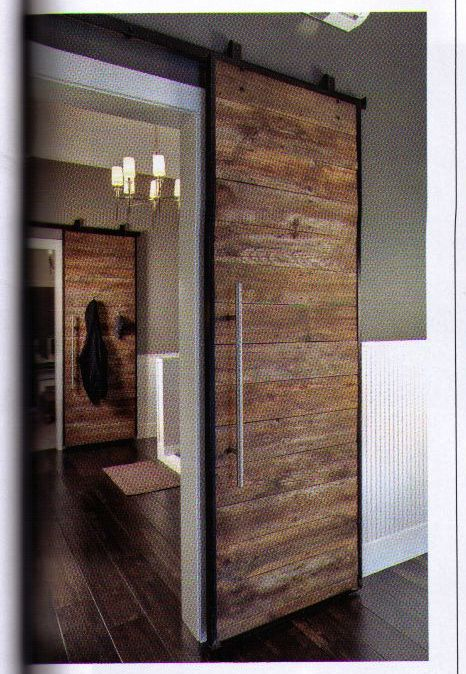 Amazing Rustic Rolling Interior Door // Reclaimed Wood // Simple, Simple, Simple!