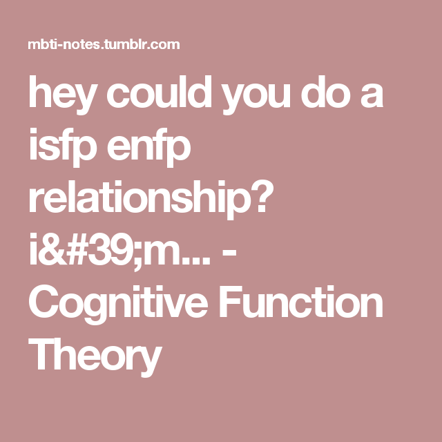 Isfp dating tips