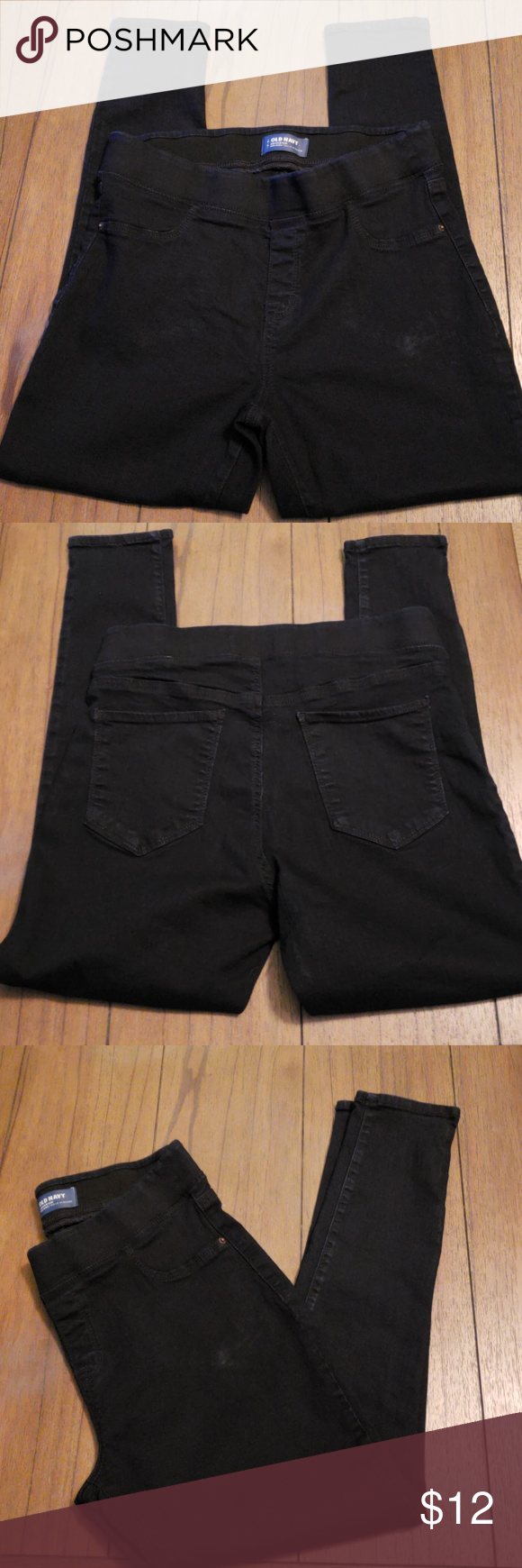 872d5c8c30 Old Navy Rockstar denim jeggings Old Navy Rockstar denim jeggings, only  worn once, elastic waist, front & back pockets, they are very dark blue  denim (they ...