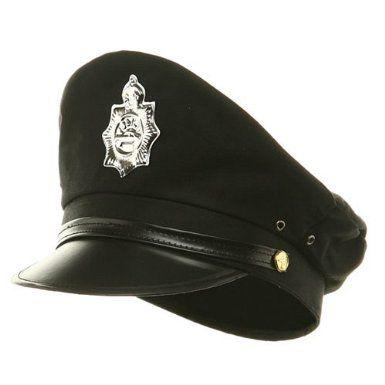 Amazon.com  Military Police Hat - Black W36S19D  Clothing ... 48c453ff90f