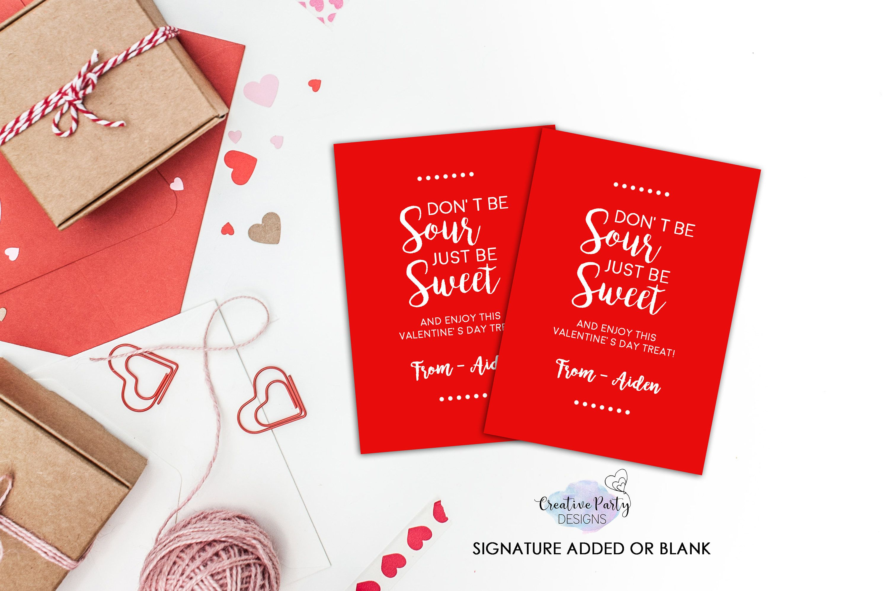 Sour Candy Valentine Sweet And Sour Card Candy Valentine
