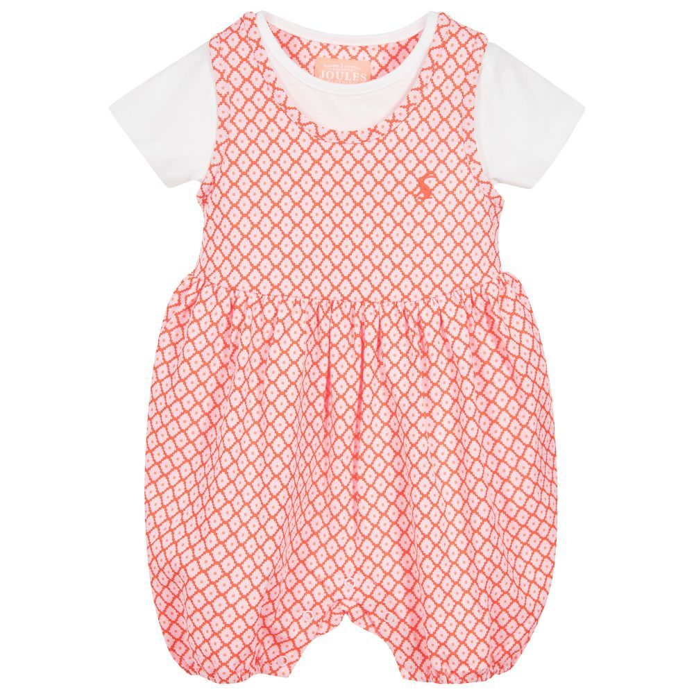 joules baby girls orange u0027dolly u0027 2 piece childrensalon