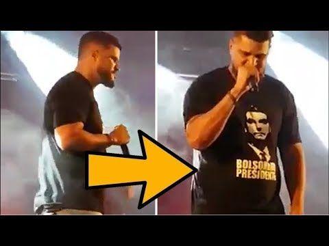 Cantor vai para o show com a camisa do Bolsonaro - YouTube