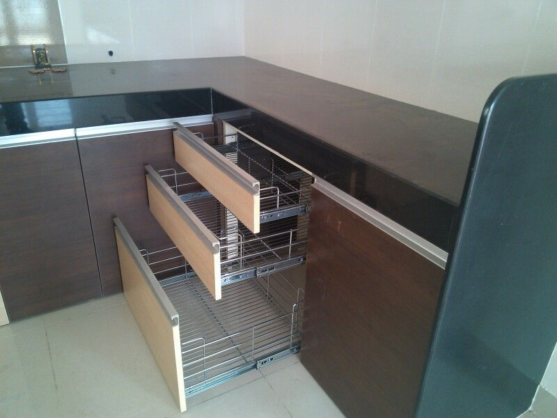 L Shaped Modular Kitchen Kitchen Accessory S S Basket Set L Shaped Modular Kitchen Kitchen Interior Kitchen Accessories