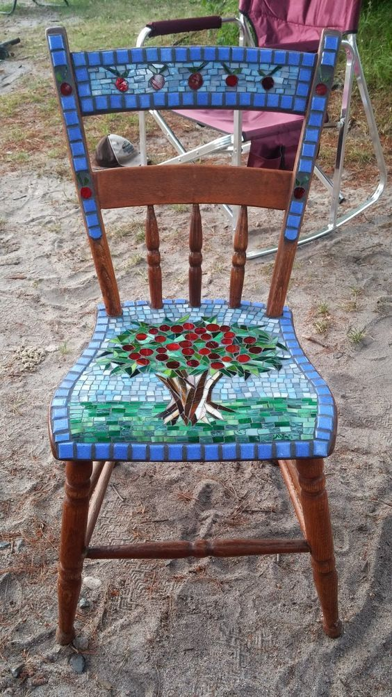 Photo of mosaic kids chair