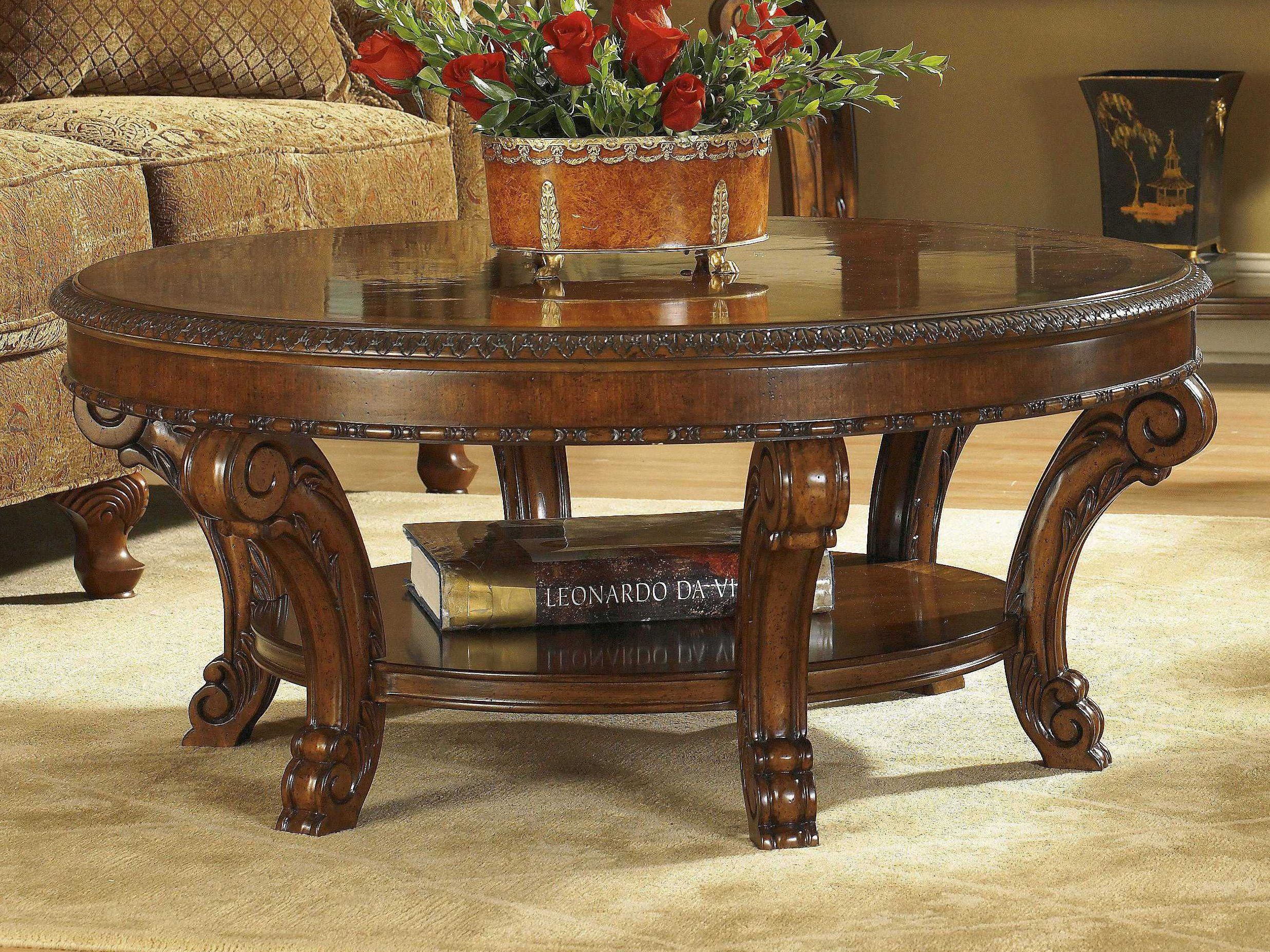 A R T  Furniture Old World 44 Round Cocktail Table is part of Old World Traditional Living Room - A R T  Furniture Old World 44 Round Cocktail Table