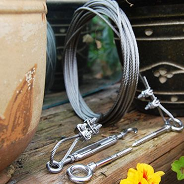 Wire Rope Plant Training Kit for Self Assembly | Garden ideas ...
