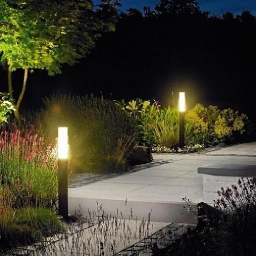 Night Yard Landscaping With Outdoor Lights 25 Beautiful Lighting Ideas Luminarias Externas Iluminacao Jardim Cachoeira De Jardim