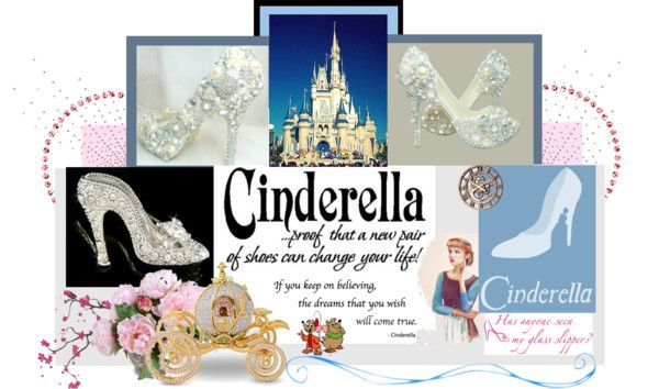 """Cinderella Shoes"" by jenn7375 ❤ liked on Polyvore"