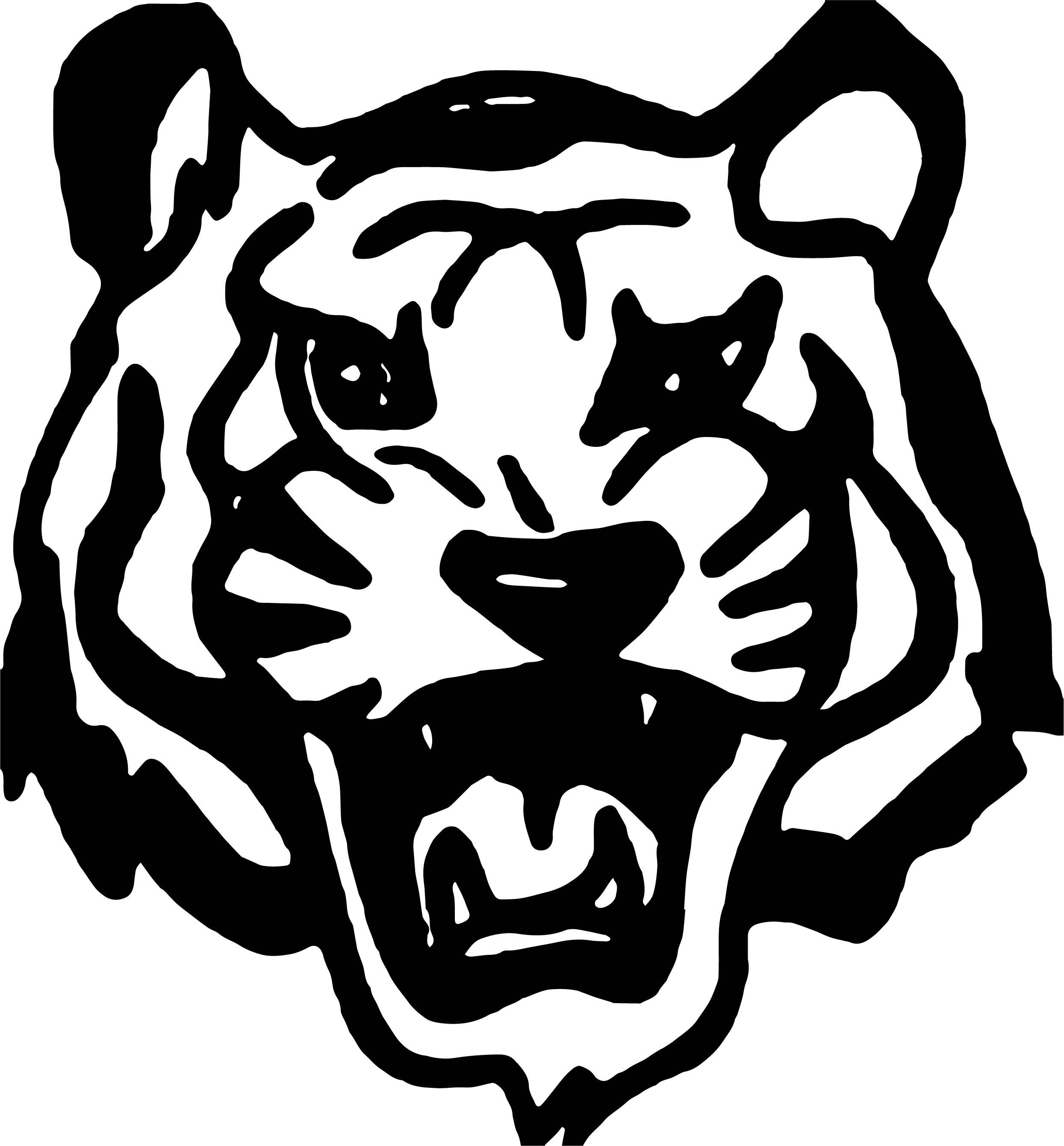 Cool Tiger Black Face Coloring Page
