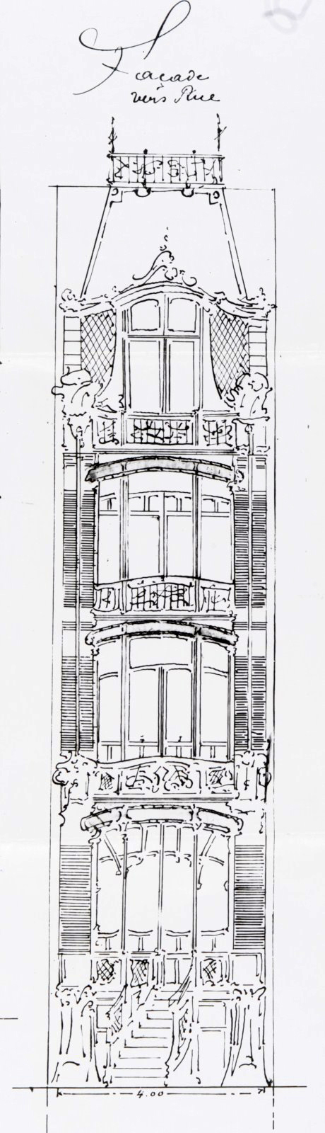 Art Nouveau - Maison Saint Cyr (Source u0027Site de lu0027Inventaire du - plan architecturale de maison