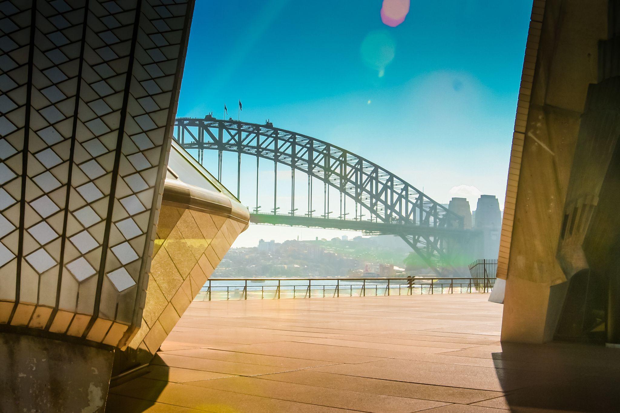 Sydney Harbour Bridge From The Opera House Sydney