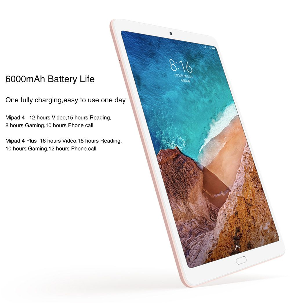 Xiaomi Mi Pad 4 Plus Cn Rom 4g Lte 4gb 128gb Original Box Snapdragon 660 10 1 Miui 9 Os Tablet Pc 4g Lte Xiaomi Computer Network